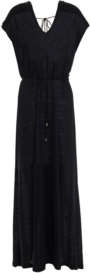 Ninety Percent Shirred Linen-gauze Maxi Dress