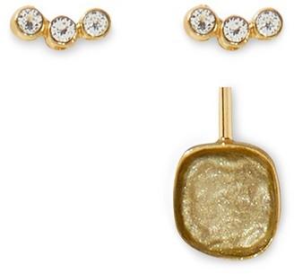 Medecine Douce Quartz maxi earrings