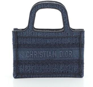Christian Dior Book Tote Oblique Denim Mini