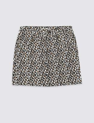 Marks and Spencer Leopard Print Skirt (3-16 Years)