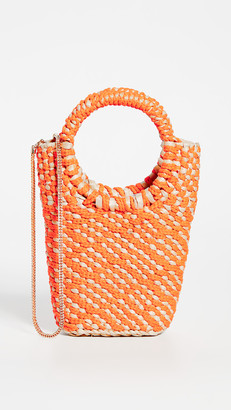 Poolside Mixed Media Woven Tote