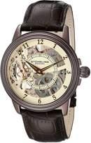 Stuhrling Original Men's 228.3365K77 Symphony Saturnalia Brumalia Mechanical Skeleton Brown Watch