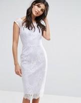 Paper Dolls Sheer Lace Overlay Bardot Dress