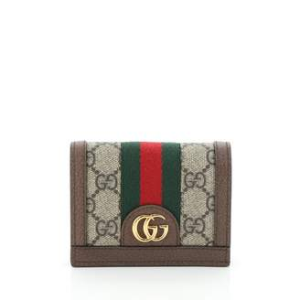 Gucci Ophidia Brown Cloth Wallets