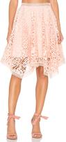 Lumier Squire Hem Lace Skirt