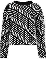 Sonia Rykiel Striped Knitted Cotton-Blend Sweater