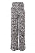 Select Fashion Fashion Womens Grey Mono Aztec Palazzo - size 10