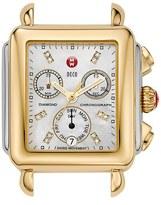 Michele 'Deco' Diamond Dial Two-Tone Watch Case, 33mm x 35mm