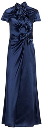 Saloni Kelly Satin Midi Dress