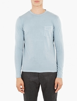 Officine Generale Blue Pocket Long-sleeved T-Shirt