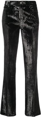 Giambattista Valli Metallic Striped Trousers