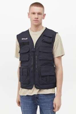 Schott Roy Navy Gilet - Blue M at Urban Outfitters