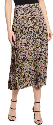 NEVER FULLY DRESSED Beatrice Floral Print Midi Skirt
