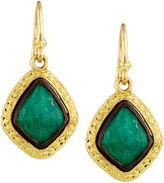 Armenta Old World 18k Malachite & Moonstone Kite Drop Earrings