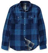 John Varvatos Plaid Western Long-Sleeve Woven Shirt