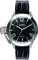 U-Boat 6950 Classico diamond and alligator leather watch