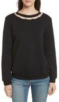 Rebecca Minkoff Women's Imitation Pearl Neckline Sweatshirt