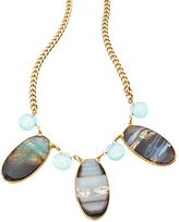 Janna Conner Designs Gold Agate and Apatite Bib Necklace