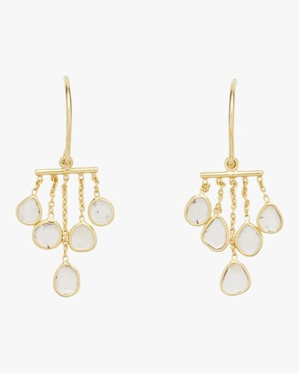 Amrapali Polki Diamond Slice Bar Chandelier Earrings