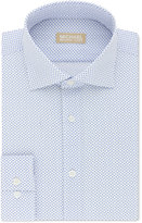 Michael Kors Men's Slim-Fit Non-Iron Blue Print Dress Shirt