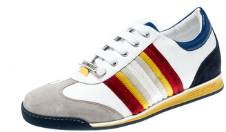 DSQUARED2 Multicolor Suede Leather And Fabric Lace Sneakers Size 42