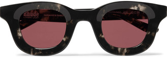 Rhude + Thierry Lasry Rhodeo Square-Frame Camouflage-Print Acetate Sunglasses