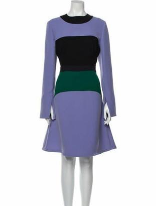 Marni Colorblock Pattern Knee-Length Dress Purple