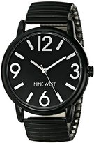 Nine West Women's NW/1571BKBK Black Expansion-Band Watch