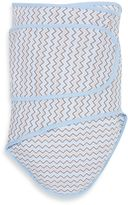 Miracle Blanket Chevron Swaddle in Blue/Grey