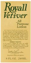 Royall Fragrances Royall Vetiver by for Men 8.0 oz All Purpose Lotion Pour