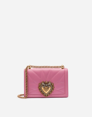 Dolce & Gabbana Medium Devotion Bag In Matelasse Nappa Leather
