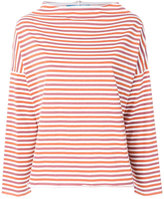 MiH Jeans boat neck striped top