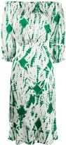 Verde fitted midi dress