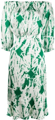 Essentiel Antwerp Verde fitted midi dress