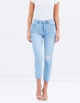 Hailey Rip Knee Straight Jeans