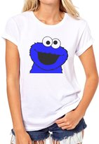 ANGRYDEER Cookie Monster Meme Looking At You Quality Womens T-Shirt