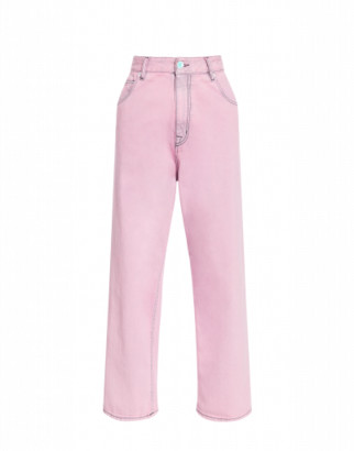 Love Moschino Stretch Denim Trousers Woman Pink Size 25 It - (4 Us)