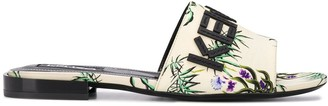 Kenzo Sea Lily logo sandals