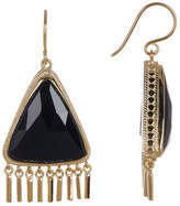 Anna Beck Gold Plated Black Onyx Fringe Earrings