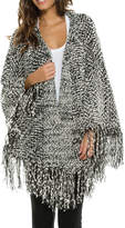 Elan International Boucle Fringe Cardigan