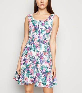New Look Mela Tropical Floral Skater Dress