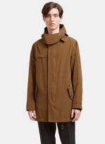 Lanvin Men's Hooded Parka Jacket In Khaki