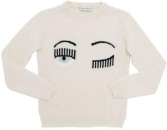 Chiara Ferragni Intarsia Wool Knit Sweater