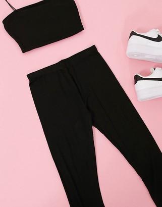 New Look 2 pack legging in black