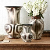 The Well Appointed House Set of Three Corrola Hand-Carved Vases