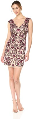 Aidan Mattox Aidan Women's Fully Embellished Floral Beaded Cocktail