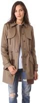 Thakoon Leather Panel Trench Coat