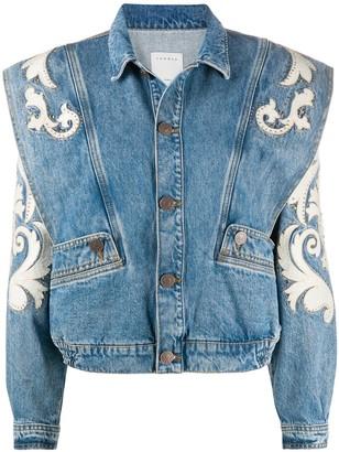 Sandro Paris Kevin studded denim jacket