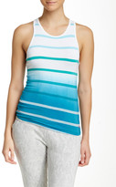 Pink Lotus Stop to Stripe Muscle Tank