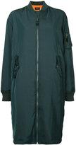 G.V.G.V. zipped long bomber coat